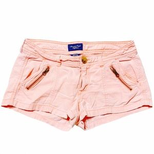 American Eagle stretch pink faded shorts